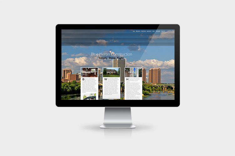 Blue Heron Construction Website Design