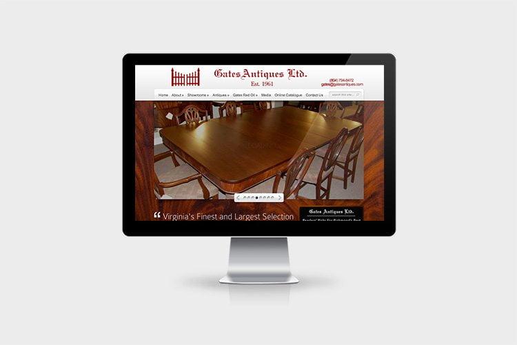 Gates Antiques Website Development