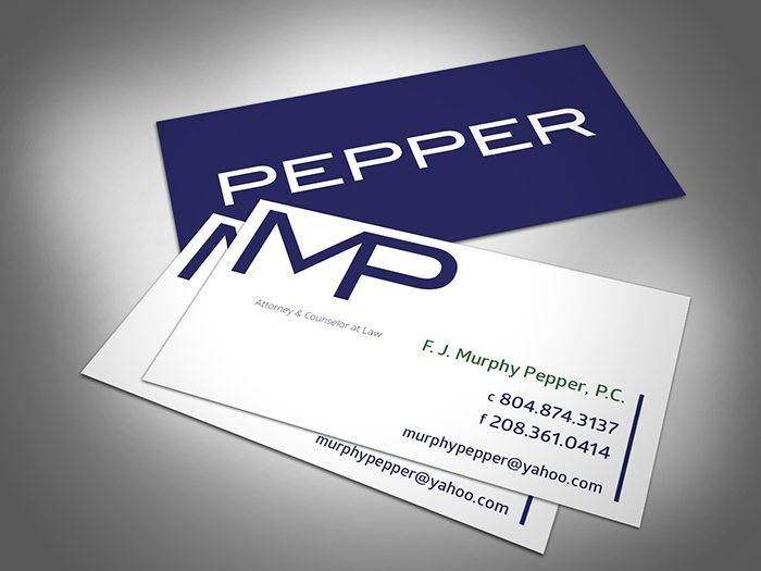 Murphy Pepper's Business Card Logo Design