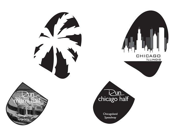 iRun Marathon Poster Series Brand Identity Designs