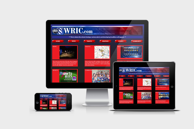 WRIC responsive App design.