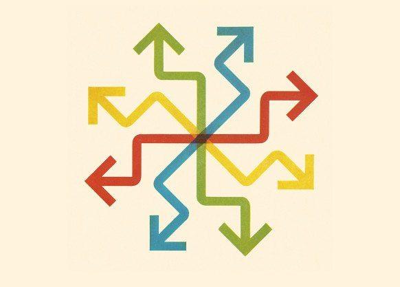 Multi Colored Arrow Design.