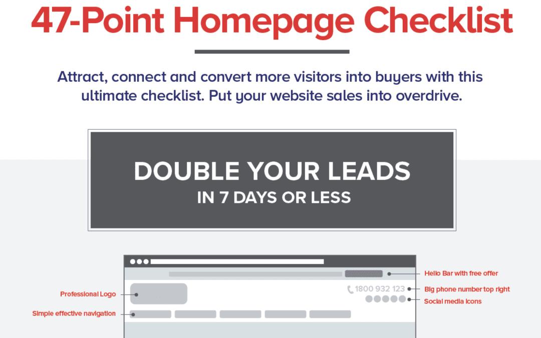 47-Point Homepage Checklist: