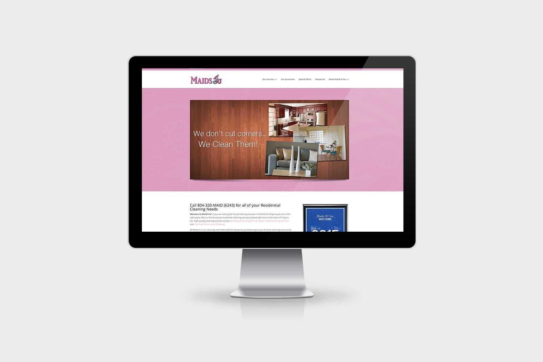 Maids 4 You Website Design