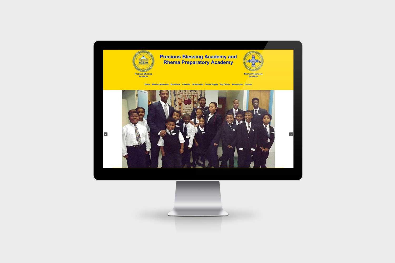 Precious Blessing Website Design