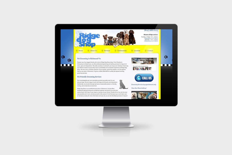 Ridge Dog Shop Website Design