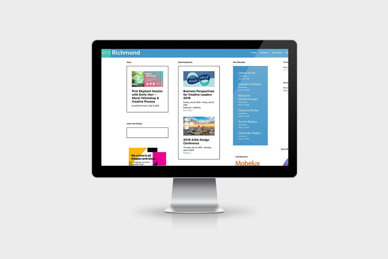 Website Maintenance and Design for the Non Profit AIGA Richmond.