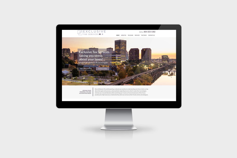 Exclusive Tax Service Website Design