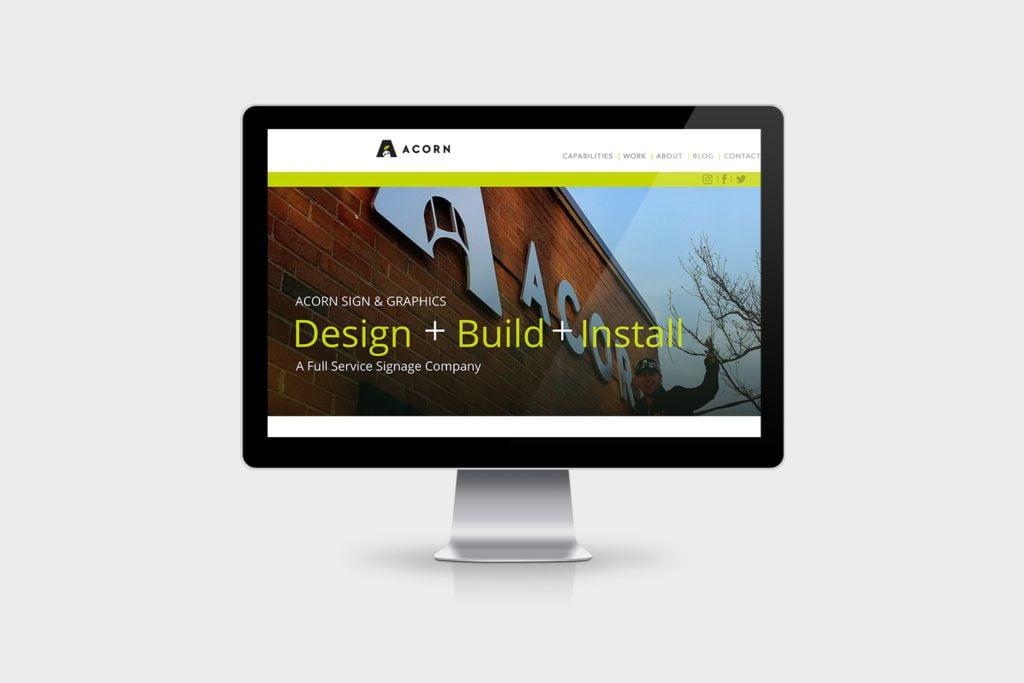 Acorn Sign Graphics Website
