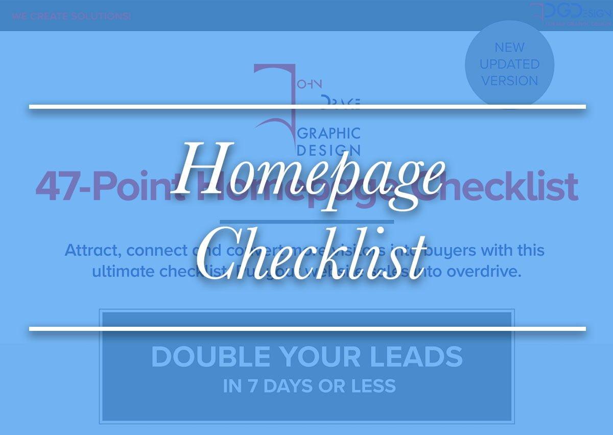 47 Point Homepage Checklist