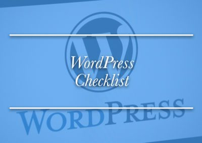 The Killer WordPress Checklist