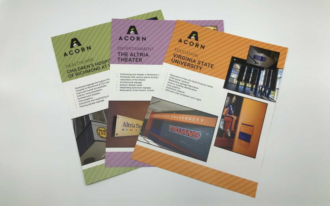 Sell Sheets: Acorn Sign Graphics