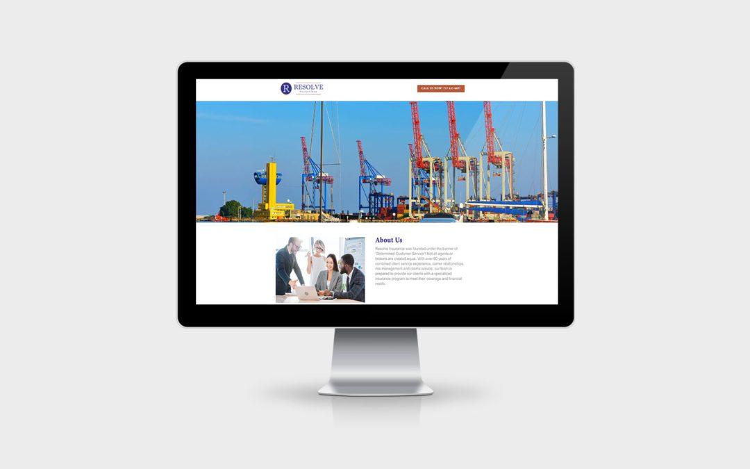 Website Design Resolve Insurance Group